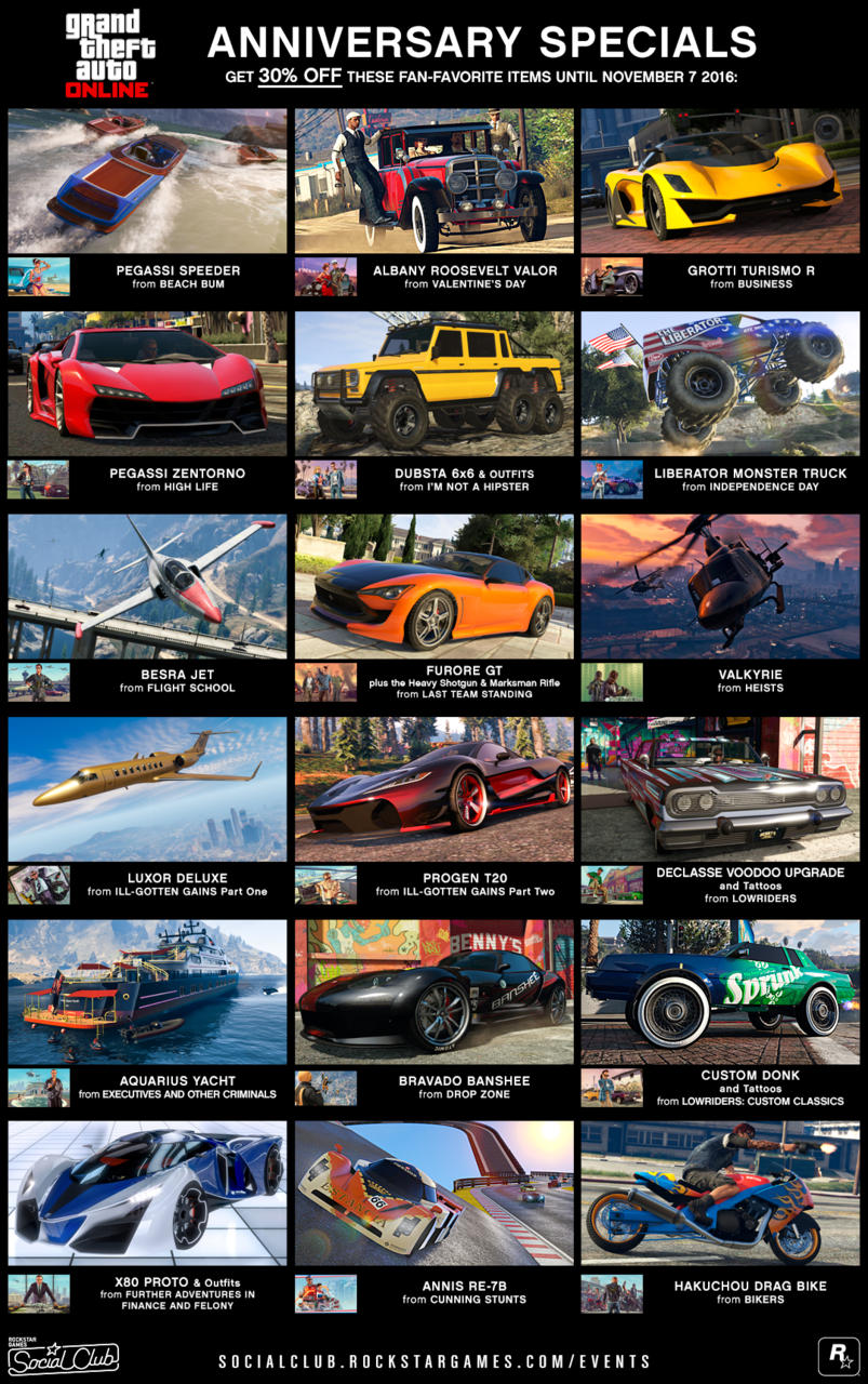gta halloween event and anniversary sale