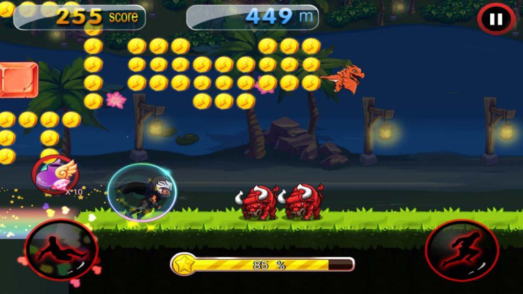 dragon ninja rush ios android game