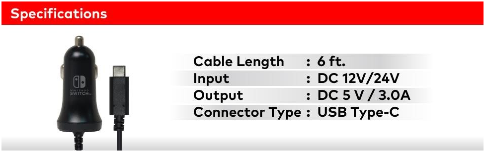 nintendo switch can charger specs