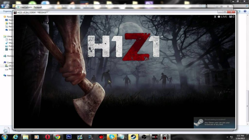 How to Make H1Z1 Windowed