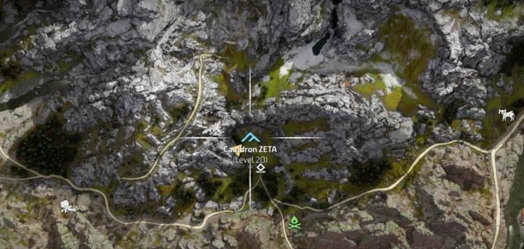 couldron zeta location
