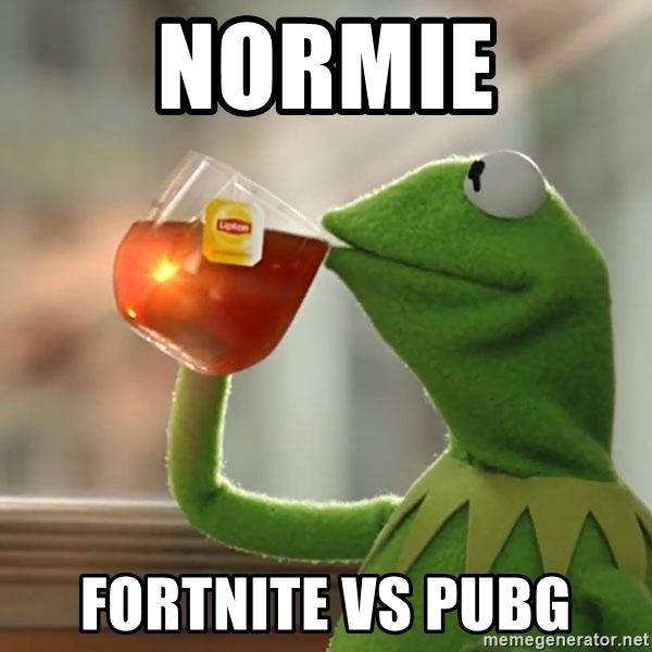 fortnite vs pubg spongebob meme